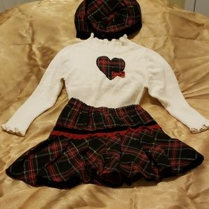 3PC Skirt Set with Tam (Cap)